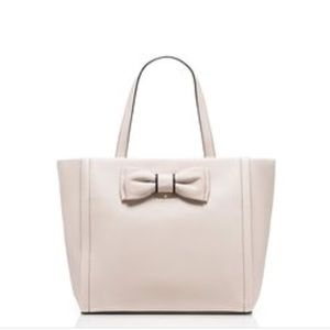Beige Leather Tote w/Bow by Kate Spade  ♠️